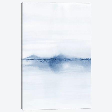 Watercolor Landscape V - Shades Of Blue 1/2 Canvas Print #NUV178} by Nouveau Prints Canvas Wall Art