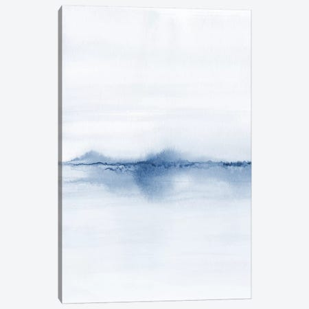 Watercolor Landscape V - Shades Of Blue 1/2 Canvas Print #NUV178} by Nouveau Prints Canvas Wall Art