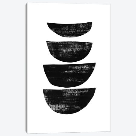 Abstraction IV Black Canvas Print #NUV17} by Nouveau Prints Canvas Print
