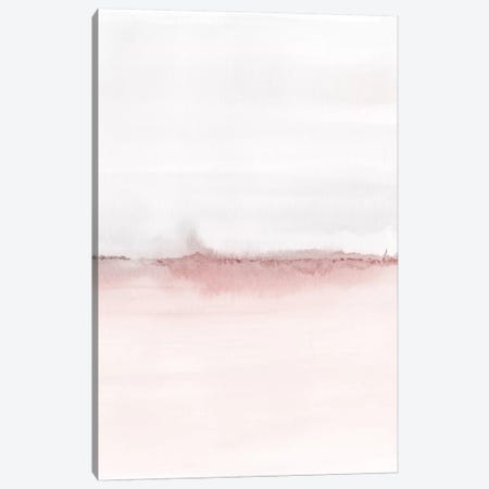 Watercolor Landscape VI - Blush Pink And Gray 2/2 Canvas Print #NUV181} by Nouveau Prints Canvas Print