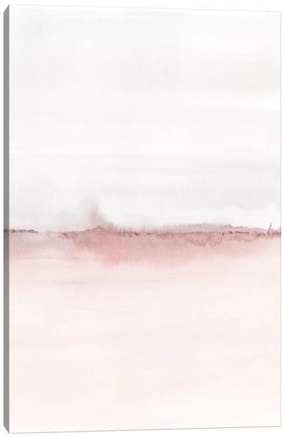 Watercolor Landscape VI - Blush Pink And Gray 2/2 Canvas Art Print