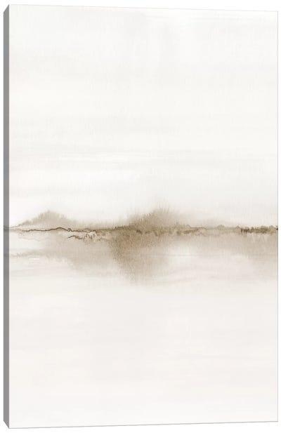 Watercolor Landscape VII - Shades Of Sepia 1/2 Canvas Art Print