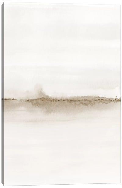 Watercolor Landscape VII - Shades Of Sepia 2/2 Canvas Art Print