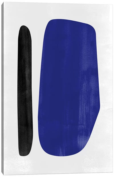 Abstraction In Black And Blue I Canvas Art Print