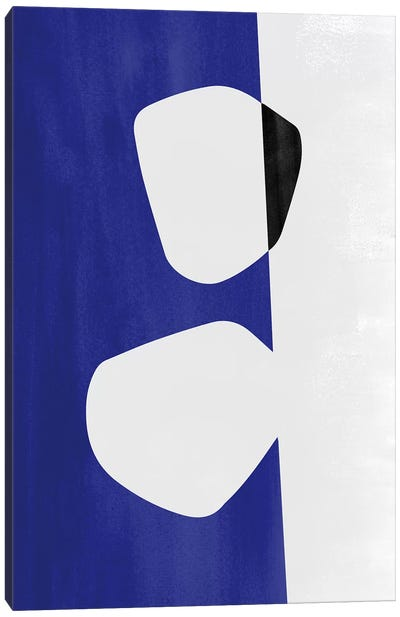 Abstraction In Black And Blue II Canvas Art Print