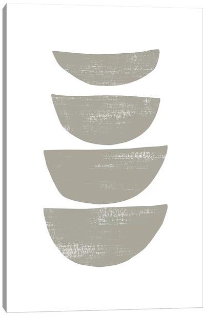 Abstraction IV Gray Canvas Art Print