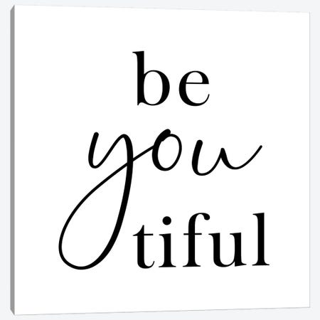 Beyoutiful - Square Canvas Print #NUV192} by Nouveau Prints Canvas Wall Art
