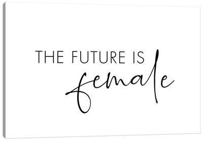 The Future Is Female Canvas Art Print
