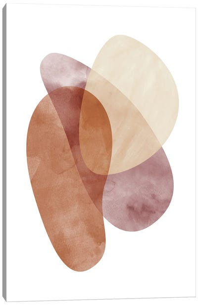 Abstraction In Warm Colors I Canvas Art Print