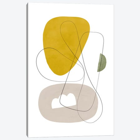 Abstract Composition With Lines I Canvas Print #NUV1} by Nouveau Prints Canvas Art
