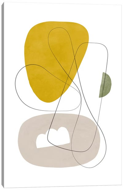 Abstract Composition With Lines I Canvas Art Print