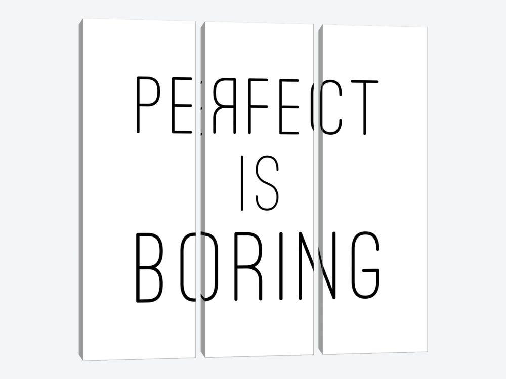 Perfect Is Boring - Square by Nouveau Prints 3-piece Canvas Print