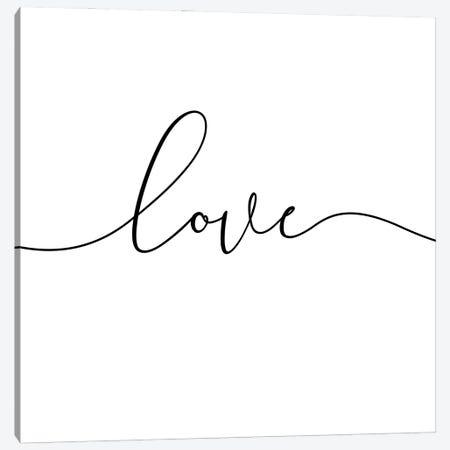 Love Lives Here I - Square Canvas Print #NUV209} by Nouveau Prints Canvas Artwork