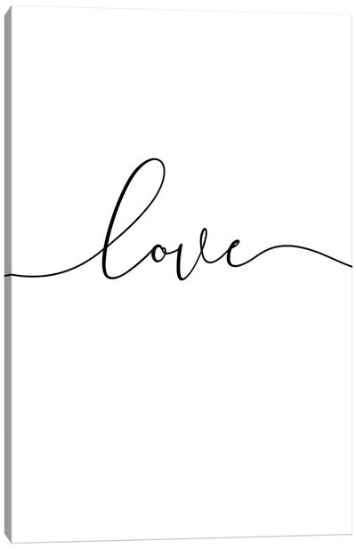 Love Lives Here I Canvas Art Print