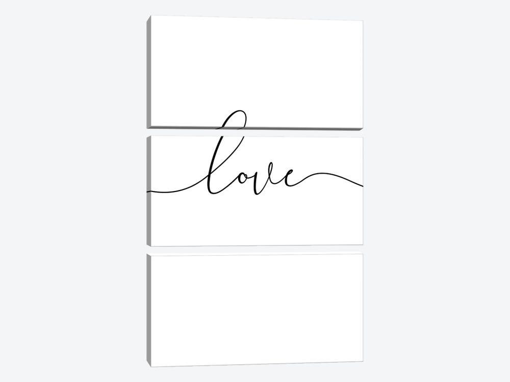 Love Lives Here I by Nouveau Prints 3-piece Canvas Art Print