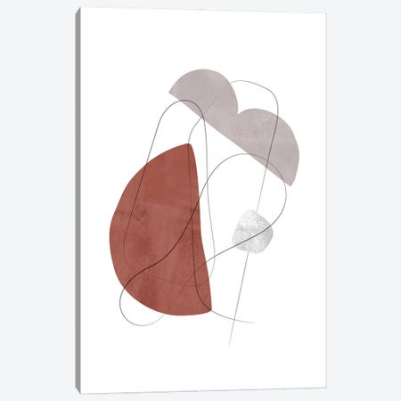 Abstract Composition With Lines XVI Canvas Print #NUV219} by Nouveau Prints Art Print