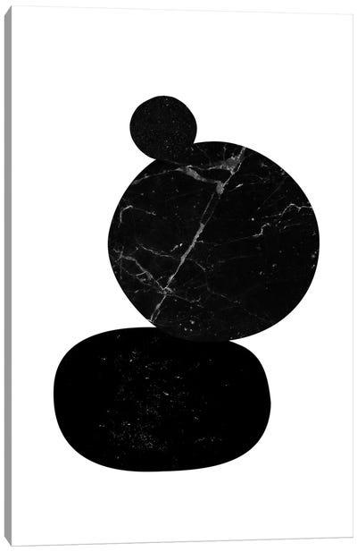 Black Pebbles II Canvas Art Print