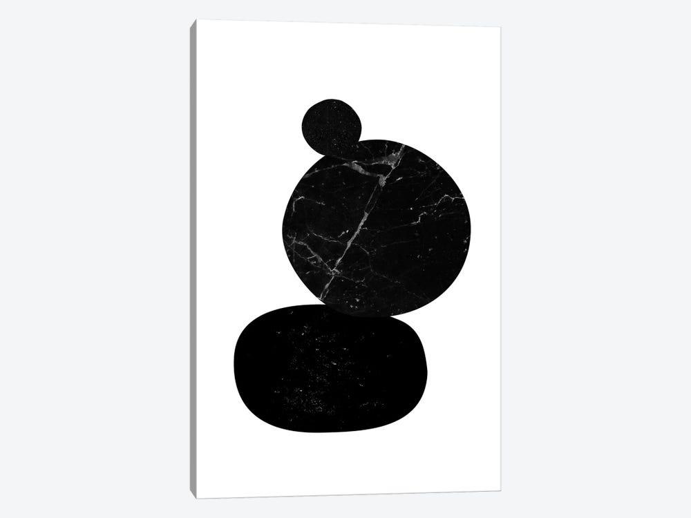 Black Pebbles II by Nouveau Prints 1-piece Canvas Art Print
