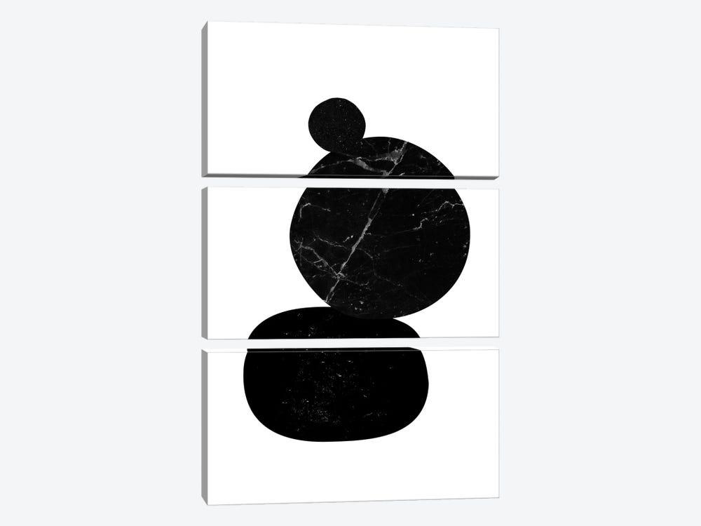 Black Pebbles II by Nouveau Prints 3-piece Art Print