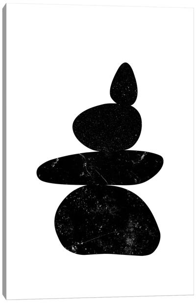 Black Pebbles III Canvas Art Print