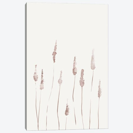 Watercolor Reeds II 3-Piece Canvas #NUV231} by Nouveau Prints Art Print