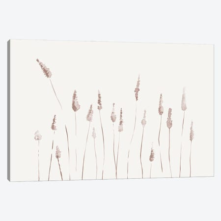 Watercolor Reeds - Landscape 3-Piece Canvas #NUV232} by Nouveau Prints Art Print