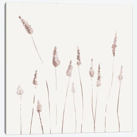 Watercolor Reeds - Square 3-Piece Canvas #NUV233} by Nouveau Prints Canvas Art Print