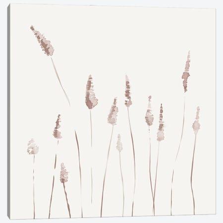 Watercolor Reeds - Square Canvas Print #NUV233} by Nouveau Prints Canvas Art Print