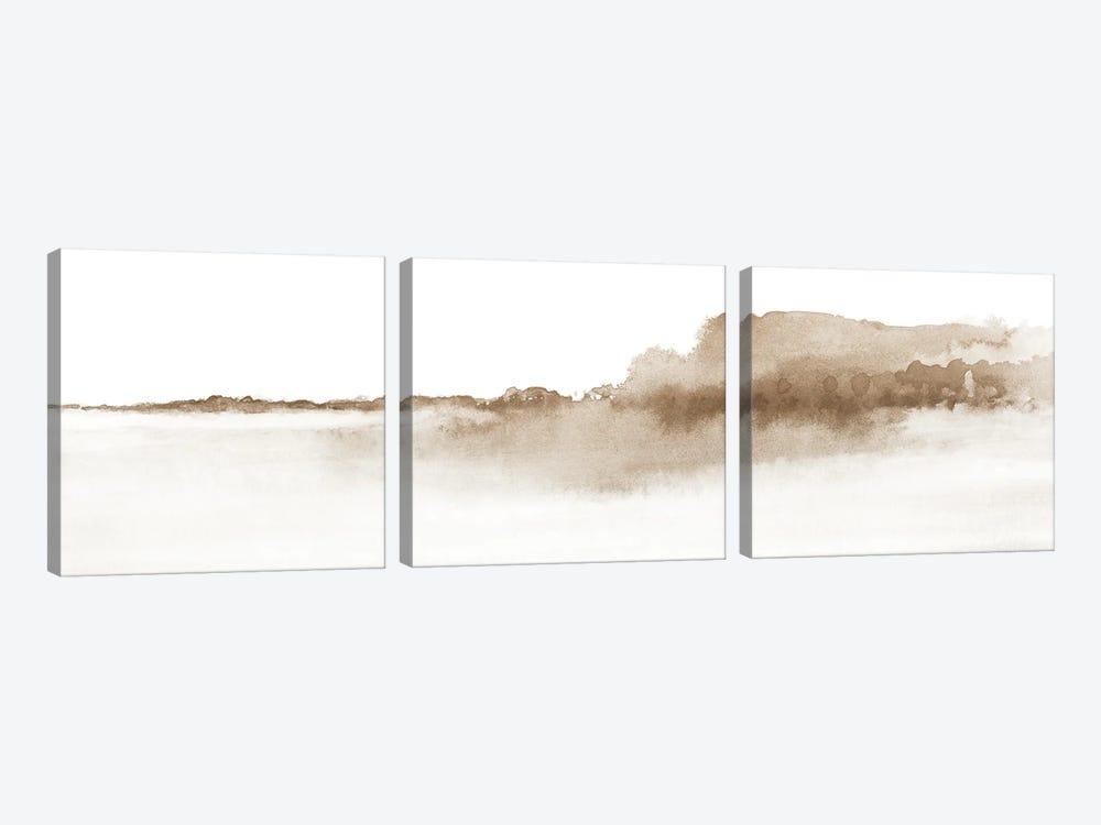 Watercolor Landscape XVI - Panoramic by Nouveau Prints 3-piece Art Print
