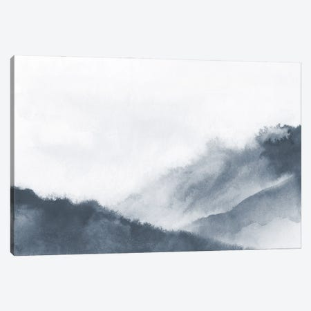Misty Mountains In Gray Watercolor Canvas Print #NUV249} by Nouveau Prints Canvas Artwork