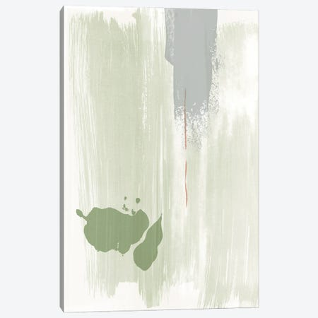 Olive green abstract painting Canvas Print #NUV255} by Nouveau Prints Canvas Art