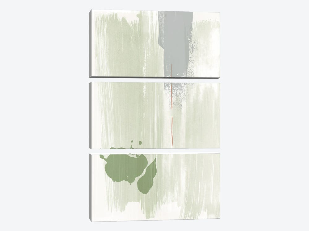 Olive green abstract painting by Nouveau Prints 3-piece Canvas Art Print