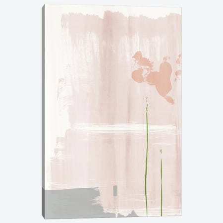 Soft pink abstract painting Canvas Print #NUV256} by Nouveau Prints Canvas Artwork
