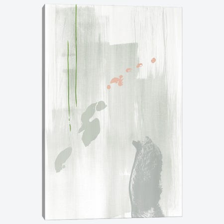 Light gray abstract painting Canvas Print #NUV257} by Nouveau Prints Canvas Art