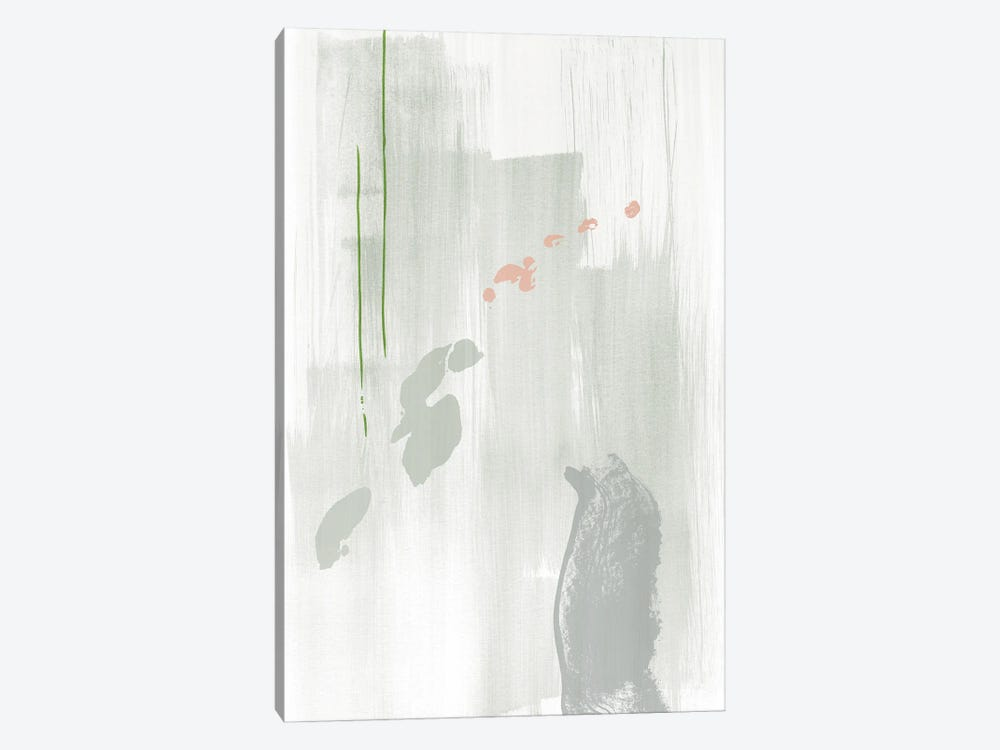 Light gray abstract painting by Nouveau Prints 1-piece Canvas Print