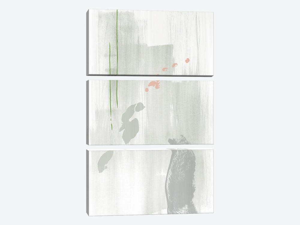 Light gray abstract painting by Nouveau Prints 3-piece Canvas Print
