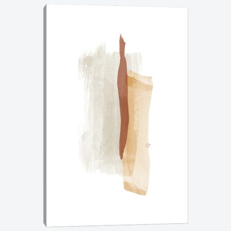 Brush Strokes V Warm Colors Canvas Print #NUV259} by Nouveau Prints Art Print