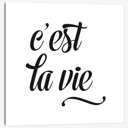 C'Est La Vie - Square Canvas Print #NUV26} by Nouveau Prints Canvas Artwork