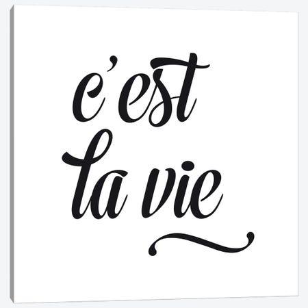 C'Est La Vie - Square Canvas Print #NUV26} by Nouveau Prints Canvas Artwork