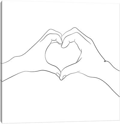 Hands - I Love You - Square Canvas Art Print