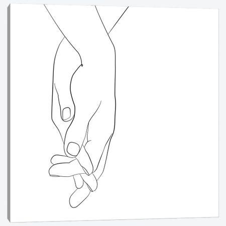Hands - Walk With Me - Square Canvas Print #NUV277} by Nouveau Prints Canvas Artwork