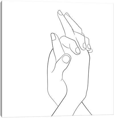 Hands - Together - Square Canvas Art Print