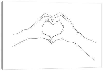 Hands - I Love You Canvas Art Print