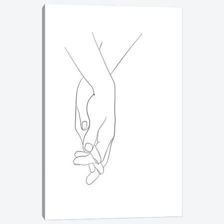 Hands - Walk With Me Canvas Print #NUV285} by Nouveau Prints Canvas Art Print
