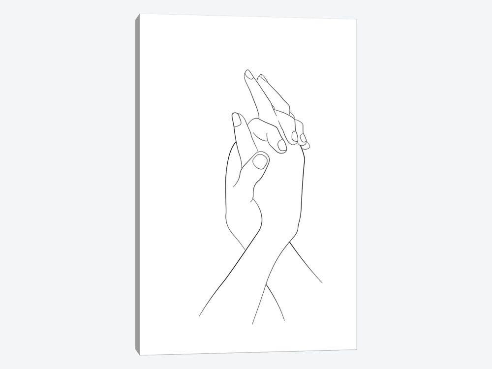 Hands - Together by Nouveau Prints 1-piece Canvas Art Print