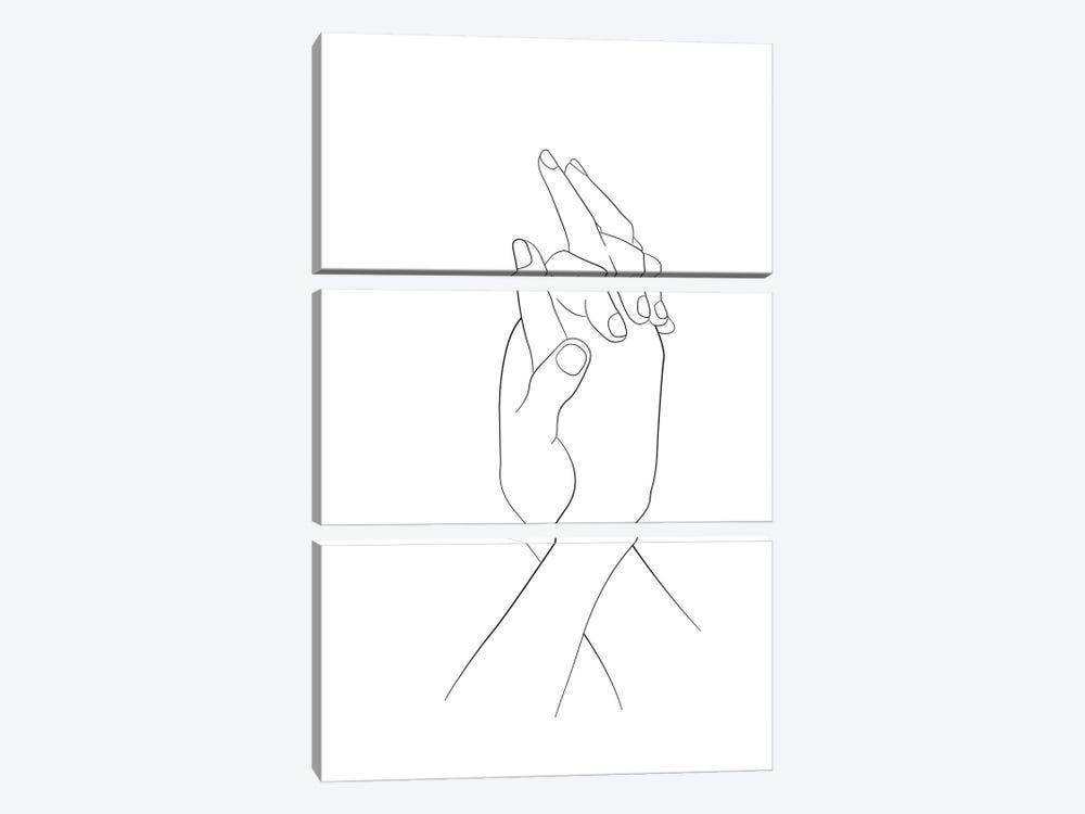 Hands - Together by Nouveau Prints 3-piece Canvas Art Print