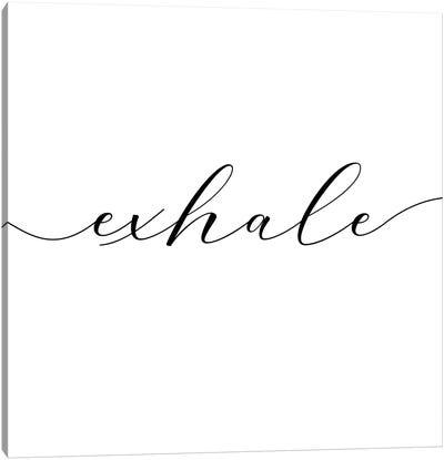 Exhale - Square Canvas Art Print