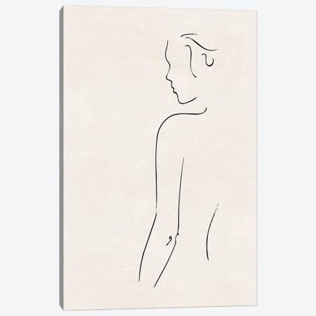 Nude Study I Canvas Print #NUV292} by Nouveau Prints Art Print