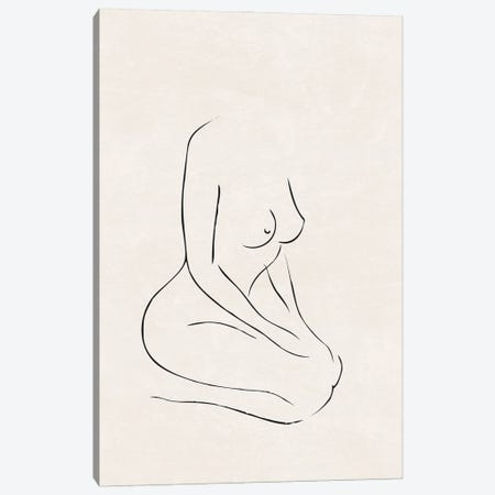 Nude Study III Canvas Print #NUV294} by Nouveau Prints Canvas Artwork