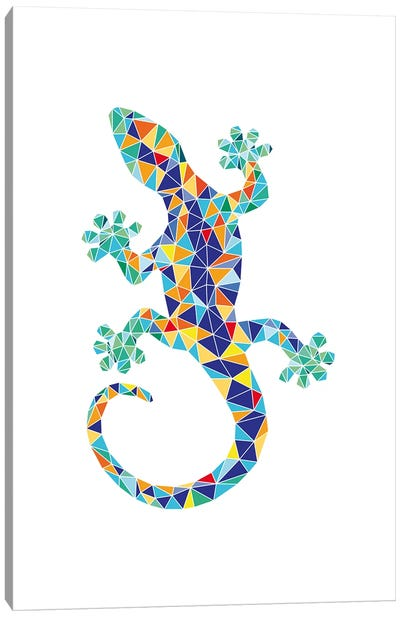 Gaudi Mosaic Dragon Canvas Art Print
